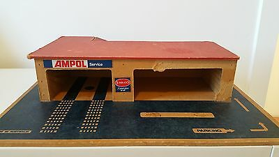 Vintage Wooden Ampol Service Station  - Australian Made - Similar Matchbox