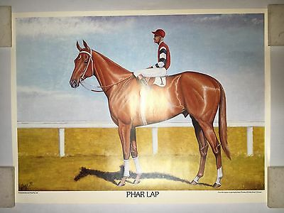 PHAR LAP POSTER/ PRINT FROM OIL PAINTING BY JANET THOMAS FROM 1980's