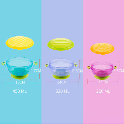 Pack of 3 Munchkin Stay Put Baby Toddler Suction Feeding Bowls BPA Free