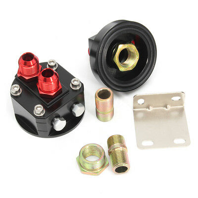 2X Oil Filter Relocation Male Sandwich Fitting Adapter Kit M20x1.5 & 3/4x16 UNF