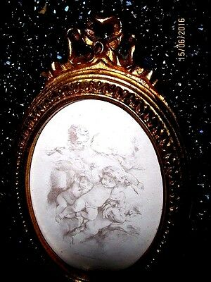 Italian Garfichi Tassoti  Limited  Edition Painted In Italy Cherubs Superb
