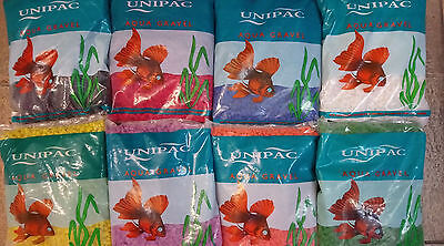 Unipac Fish Tank Aquarium Coloured Gravel 2.5Kg Decoration Pebbles *bulk Of X3*