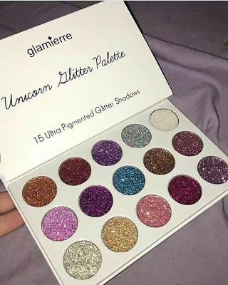 New Unicorn Glitter Eyeshadow Palette Highlighter Natural Cosmetic Make Up Gift