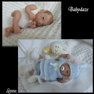 "Ooak Unique  Artist Hand Sculpted (No Moulds) 7"" Jointed  Baby Girl - Leanna"