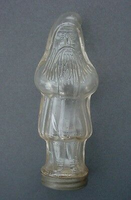 Antique Santa Claus in Paneled Coat Circa 1913 Belsnickle Glass Candy Container