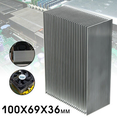Large Aluminum Heatsink Heat Sink Radiator For LED High Power Amplifier Amp Tool