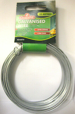 Extra Strong Galvanised Wire 1.2Mm Thick 25 Metres Fixing Fencing Garden Purpose