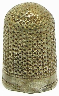 Delightful 17th century English Silver Thimble c. 1640 - 1680 Makers Mark G.S.