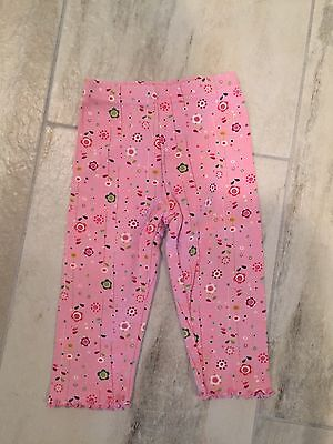 Gymboree Girls Pink Leggings With Floral Print (12-18 Months)