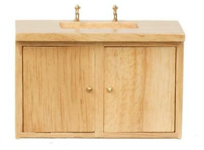 Melody Jane Dolls House Light Oak Kitchen Sink Unit Miniature 1:12 Furniture