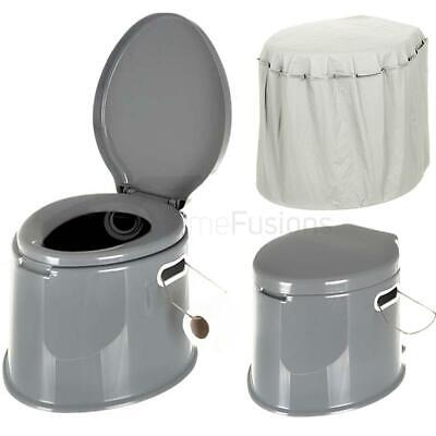 5L Portable Camping Toilet/Cover/Compact Potty Loo Festival Picnic Hiking Travel