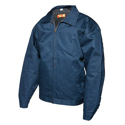 Stain-Resistant Navy Blue Cotton Twill Work Jacket - Men's XL