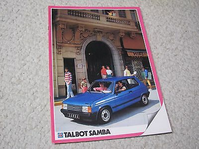 1983 Talbot Samba (France) Sales Brochure.....