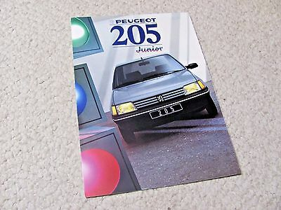 "1988 Peugeot 205 ""junior"" Sales Brochure...."