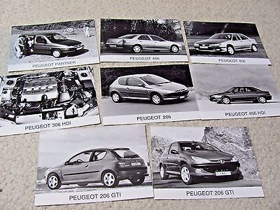 Peugeot Original Press Photos (8 Different Photos)