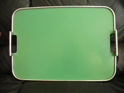 Servex Art Deco Green & Chrome Tray
