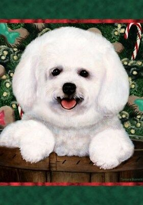 Large Indoor/Outdoor Holiday Flag - Bichon Frise Pup 14250