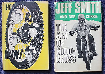 Lot of 2 Motorcycle Books The Art of Motocross & How To Ride and Win