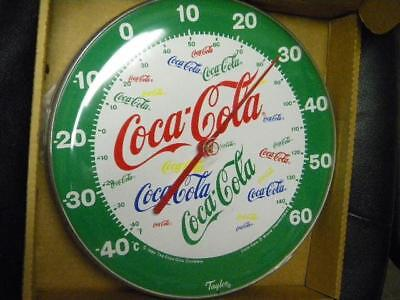 1980s Coca Cola NOS Thermometer in Box Unusual jColors & Design Taylor 12 inch
