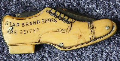 Vintage Star Brand Shoes Figural Pocket Knife