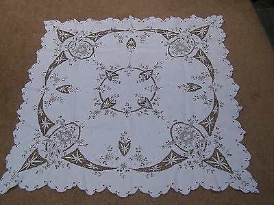 Vintage Square Linen Patterned  Table Cloth