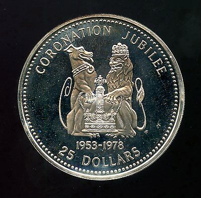 Belize ~ 1978 ~ $25 Ten Dollar ~ Sterling Silver ~ Proof ~ 8,400 Minted