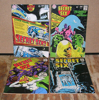 The Secret Six-DC Comics-First Issue + Three Others-1968/1969