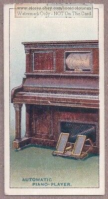 Player Piano Pneumatic Keyboard Invention 1915  Ad Trade Card
