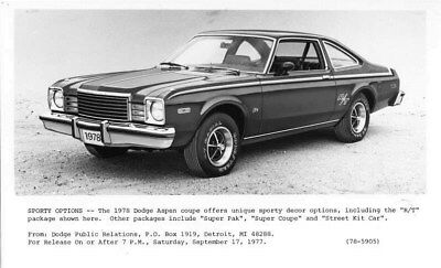 1978 Dodge Aspen R/T ORIGINAL Factory Photo oub6638