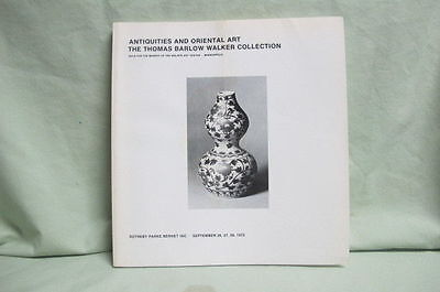 1972 Sotheby's Catalog Antiquities and Oriental Art Walker Collection