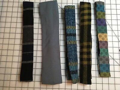 Vintage Lot Of 5 Rooster Neckties Wool And Cloth