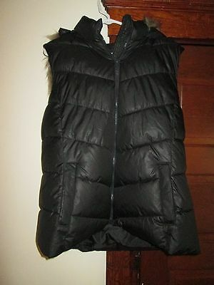 Womens Vest Black With Hood By Gap Size Xl In Perfect Condition