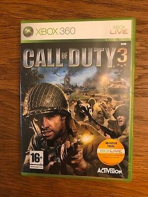CALL OF DUTY 3 -  XBOX 360 game / jeu