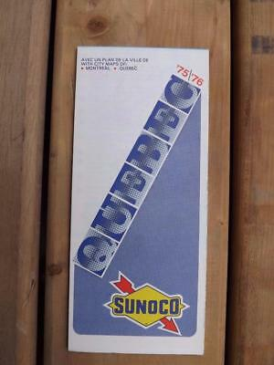Road Map Quebec 1975 1976 Sunoco Gas Service Station Advertising