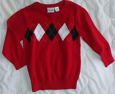 Sz 3 3T The Childrens Place Sweater Little Boys Red