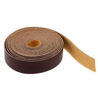 10m Leather Straps Strips Leather Crafts for DIY Bag Handle 15mm Deep Coffee