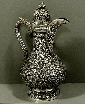 Indian Sterling Silver Coffee Pot                J. Manikrai, Karachi