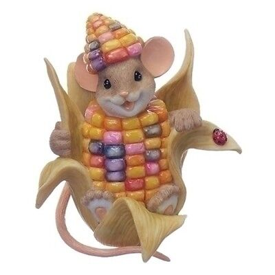 Charming Tails Mouse in Ear of Corn Harvest Fall Figurine Decoration 130458 New