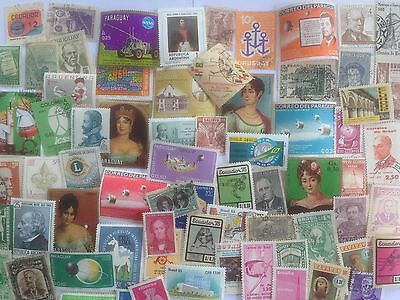 500 Different South America Stamp Collection - Commemoratives only
