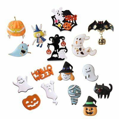 Kawaii Icon Halloween Witch  Ghost Pumpkin Brooch Clothes Badge Brooch Pin Gift