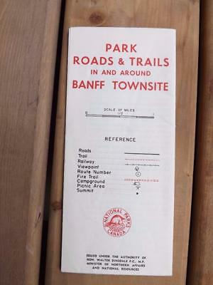 Park Roads & Trails In And Around Banff Townsite Map National Parks Canada