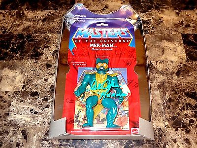 Mer-Man Signed Action Figure Alan Oppenheimer Masters Of The Universe He-Man MOC