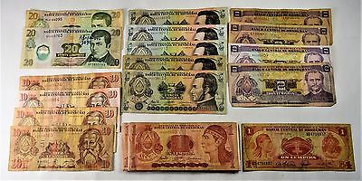 Lot Of 34 - Lempiras Totaling 132 -Vg To Uncirculated