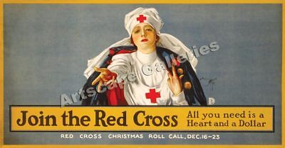 """Join the Red Cross!"" World War I Vintage Poster 24x46"
