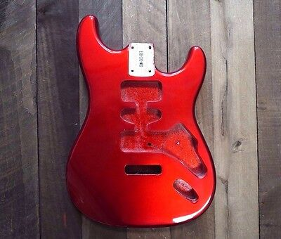 Eden Standard Series Paulownia Body for Stratocaster Candy Apple Red