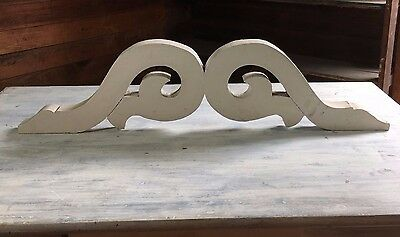 1(One) Antique Wood Corbel Bracket Victorian Gingerbread White 433-17