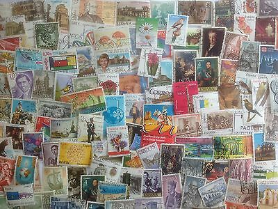 500 Different Spain Stamp Collection - Pictorials only