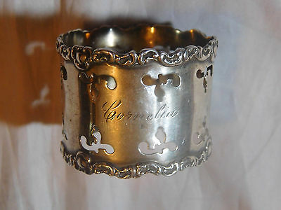 ANTIQUE STERLING SILVER NAPKIN RING by WATROUS