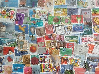 300 Different Switzerland Stamp Collection - Large only