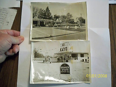 Vintage photo Gas Station Des Moines and Greensboro stations Standard Kayo